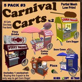 (CC) Carnival Funfair: Carts 5-Pack #3 -food concession stand kios booth
