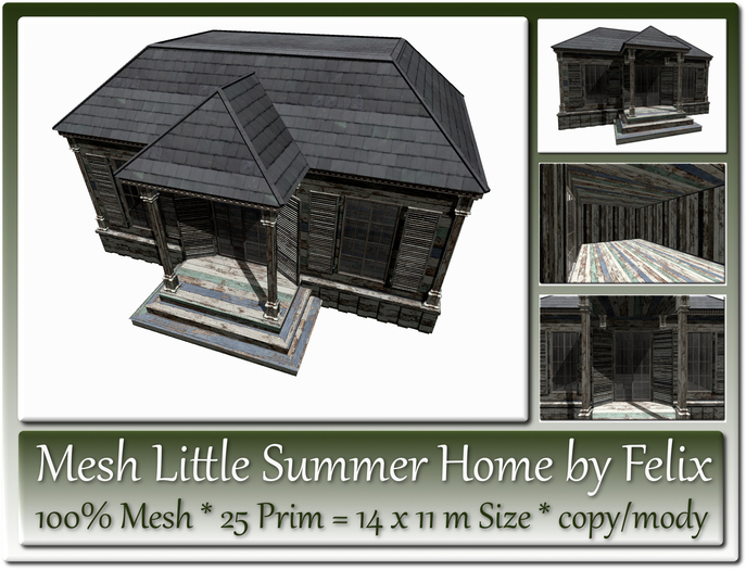 Mesh Little Summer Home by Felix 25 Prim 14x11m Size copy-mody