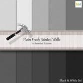 White And Black Plain Seamless Wallpaper Textures NM