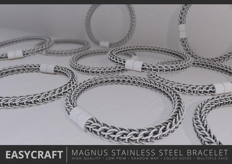 EASYCRAFT - Full Perm Magnus Stainless Steel Bracelet
