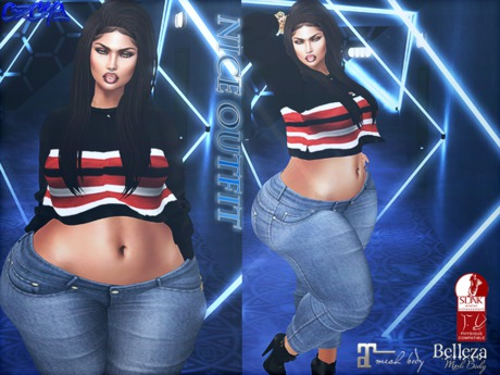 Second Life Marketplace Rc Black Nice Outfit Women