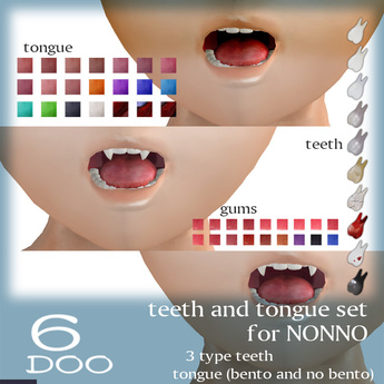 *6DOO* teeth and tongue for NONNO-01