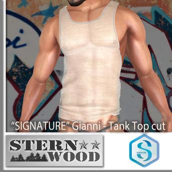 Signature Tank Top - cut - Sheer - for Gianni