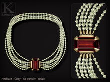 KUNGLERS - Carly necklace - Ruby
