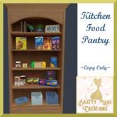 Kitchen Food Pantry-Light Wood