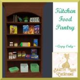 Kitchen Food Pantry-Dark Wood