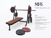 N4RS Gym Bench Press - Original Mesh Design with exclusive animations - PG -