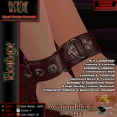 KDC Vermilion ankle cuffs