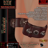 KDC Vermilion elbow cuffs