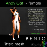Furry Andy - Andy Cat Bento avatar - Female