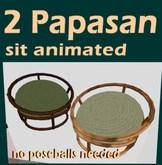 2 Papasan Chairs (boxed)