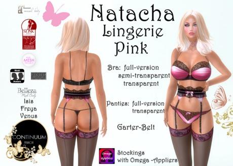 Continuum Natacha Pink Lingerie