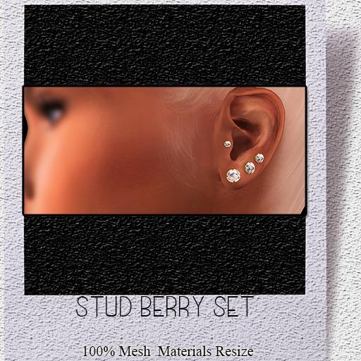 [Rossi.] Stud Berry Earring Set