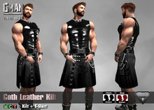 [GMan] KT - Goth Leather Kilt