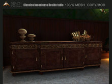 [Dolphin Design] Classical woodiness Beside table