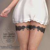 (AMD) Lace Garter - Black (wear to unpack)