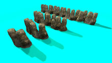 "1 prim full perm ""Water Rock Pathway"" sculpt maps kit, any texture"