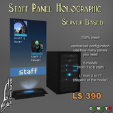 Staff Panel Holographic - Server Based