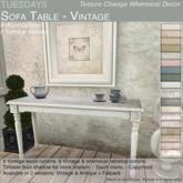 Tuesdays Texture Change Sofa Table - Vintage