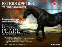 *CINNAMON* Matching extras - Appliers for the Black Pearl coat for the *WH* Riding Horse
