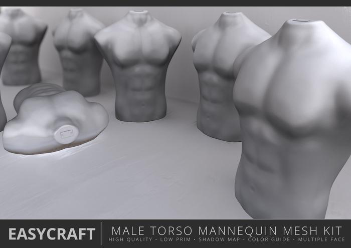 EASYCRAFT - Male Torso Mannequin
