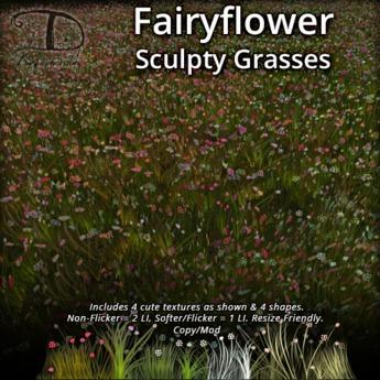 [DDD] Fairyflower Grasses - Resize Friendly, No Alpha Flicker
