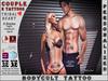 BodyCult Custom Tattoo COUPLE Tribal Heart - 2 Tattoos!!