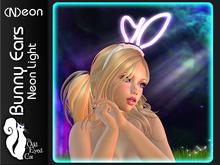 >^OeC^< (N)eon - Bunny Ears Mesh Neon Light Headband