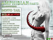 0o Morph Dragon Tail RED Dragonspikes (Bento, complete AO)