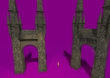 "1 prim full perm ""Castle Bridge Towers"" sculpt map, any texture"