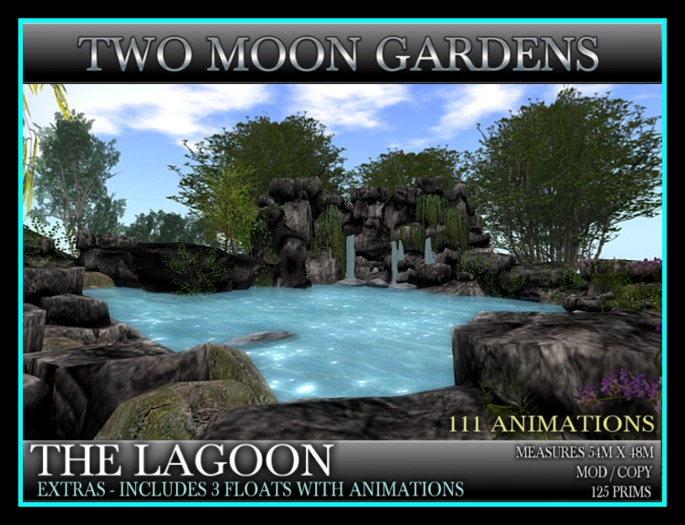 THE LAGOON* Landscape Garden Oasis with 111 Animations - Swimming and Diving