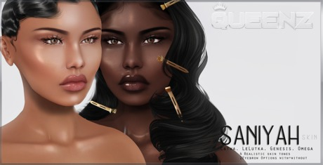 .Q. Saniyah -Cocoa- Skin [Catwa,LeLutka,Genesis,Omega]