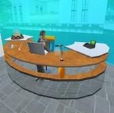Office Table - Low Prim - Glas & Wood