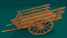 "1-2 prim full perm ""Farm Wheel Cart"" sculpt maps kit, any texture"