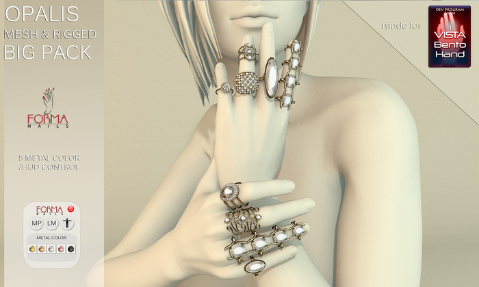 [FORMANAILS] Accessories for Vista Prohands - RINGS OPALIS