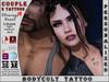 BodyCult Custom Tattoo COUPLE Cleavage Heart - 2 TATTOOS
