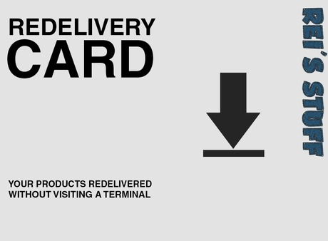 Rei's Stuff - Redelivery Card