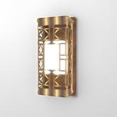 Lattice Wall Lamp - Gold (Original Mesh, Resizer)