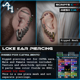+AH+ Loke Ear Piercing CATWA bento heads