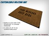 Customizable Welcome Mat - Set Any Message You Like