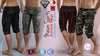 MASON FATPACK Male Cargo Shorts Pants MESH - ADAM, AESTHETIC, SIGNATURE GIANNI - GERALT, SLINK, TMP, JAKE - FashionNatic