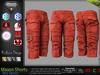 MASON RED Male Cargo Shorts MESH - ADAM, AESTHETIC, SIGNATURE GIANNI - GERALT, SLINK, TMP, JAKE - FashionNatic