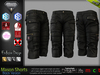 MASON BLACK Male Cargo Shorts MESH - ADAM, AESTHETIC, SIGNATURE GIANNI - GERALT, SLINK, TMP, JAKE - FashionNatic
