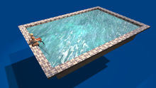 """1 LI """"Decorative Pool w Animated Material Water """" any texture (mod, copy)"""