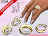 [SuXue Mesh] Golkoy Bento & Classic Unrigged Wedding Rings Bands Gold Resize Regular NoMicro Female Male