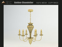 [Dolphin Design] Golden Chandelier