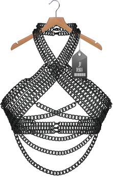 "JF Design""Anastasia""[Maitreya/Belleza] Chain Top - Black"