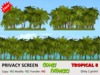 *DQ* PRIVACY SCREENS - TROPICAL 8 - COMBI PACK