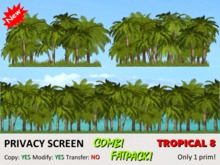 *DQ* PRIVACY SCREENS (FATPACK) - TROPICAL 8