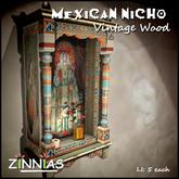 Zinnias Mexican Nicho Vintage Madonna